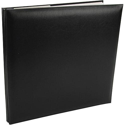 pioneer leatherette postbound album 12 x12 black walmart