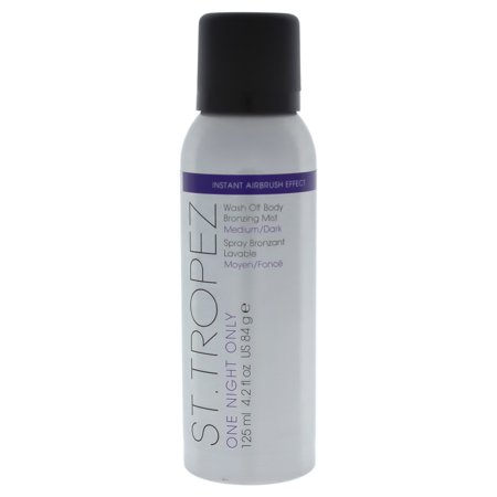 St. Tropez One Night Only Wash Off Body Bronzing Mist, Medium Dark, 4.2 (St Tropez One Night Only Finishing Gloss)