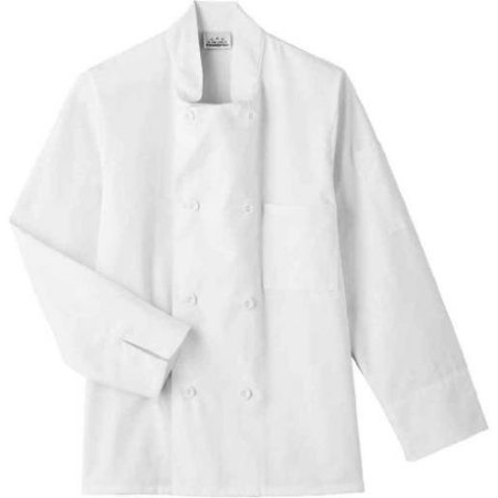 Five Star 18000 Adult's 8 Button Chef Jacket White 5X-Large