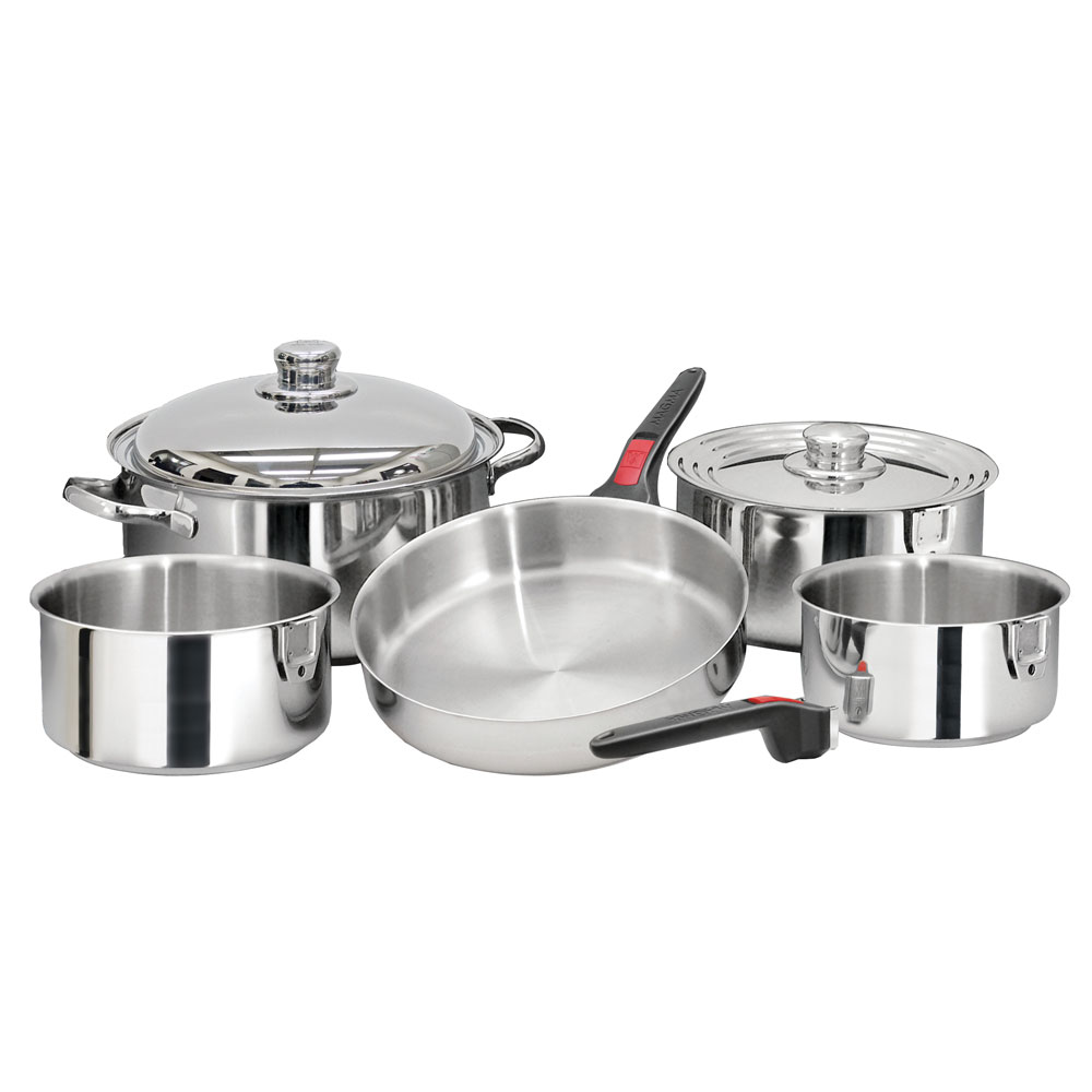 """Magma 37223M MagMA NESTABLE 10 PIECE S.S. COOKWARE SET"" by Magma"