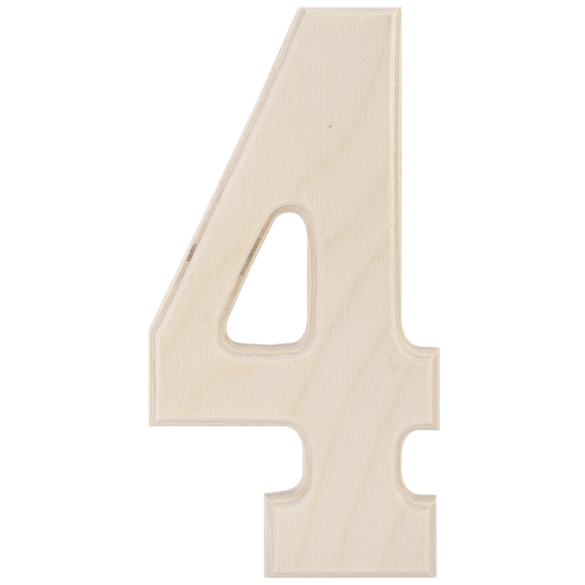5-Inch Letter-S MPI Baltic Birch University Font Letters and Numbers