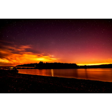 LAMINATED POSTER River Water Silhouettes Reflections Dusk Sunset Poster Print 24 x 36 (River Silhouette)