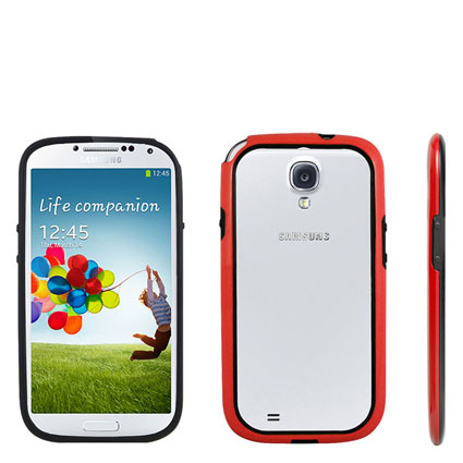 Protective Bumper for Samsung Galaxy S4 - Red