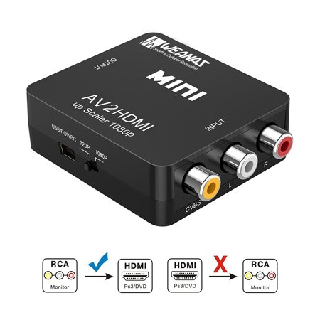 1080p Hdmi To Av 3rca Cvbs Travel Adapter Composite Video Converter