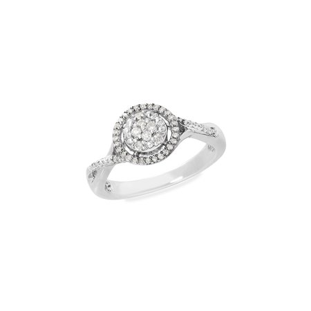 Sterling Silver & Diamond Ring ()