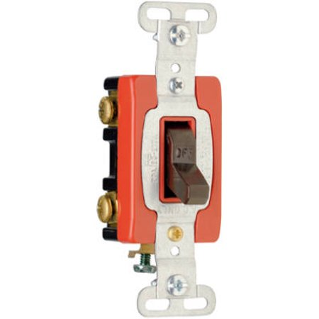 Pass & Seymour CSB220CC Toggle Switch, Double Pole, Brown, 120/277-Volt, 20-Amp - Quantity