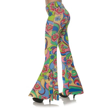 Flower 70S Womens Adult Disco Costume Bell Bottoms - 70s Disco Jumpsuit