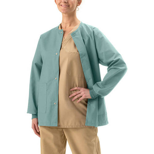 Medline AngelStat Unisex Snap-Front Warm-Up Scrub Jacket
