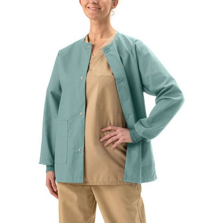 Medline AngelStat Unisex Snap-Front Warm-Up Scrub Jacket ()