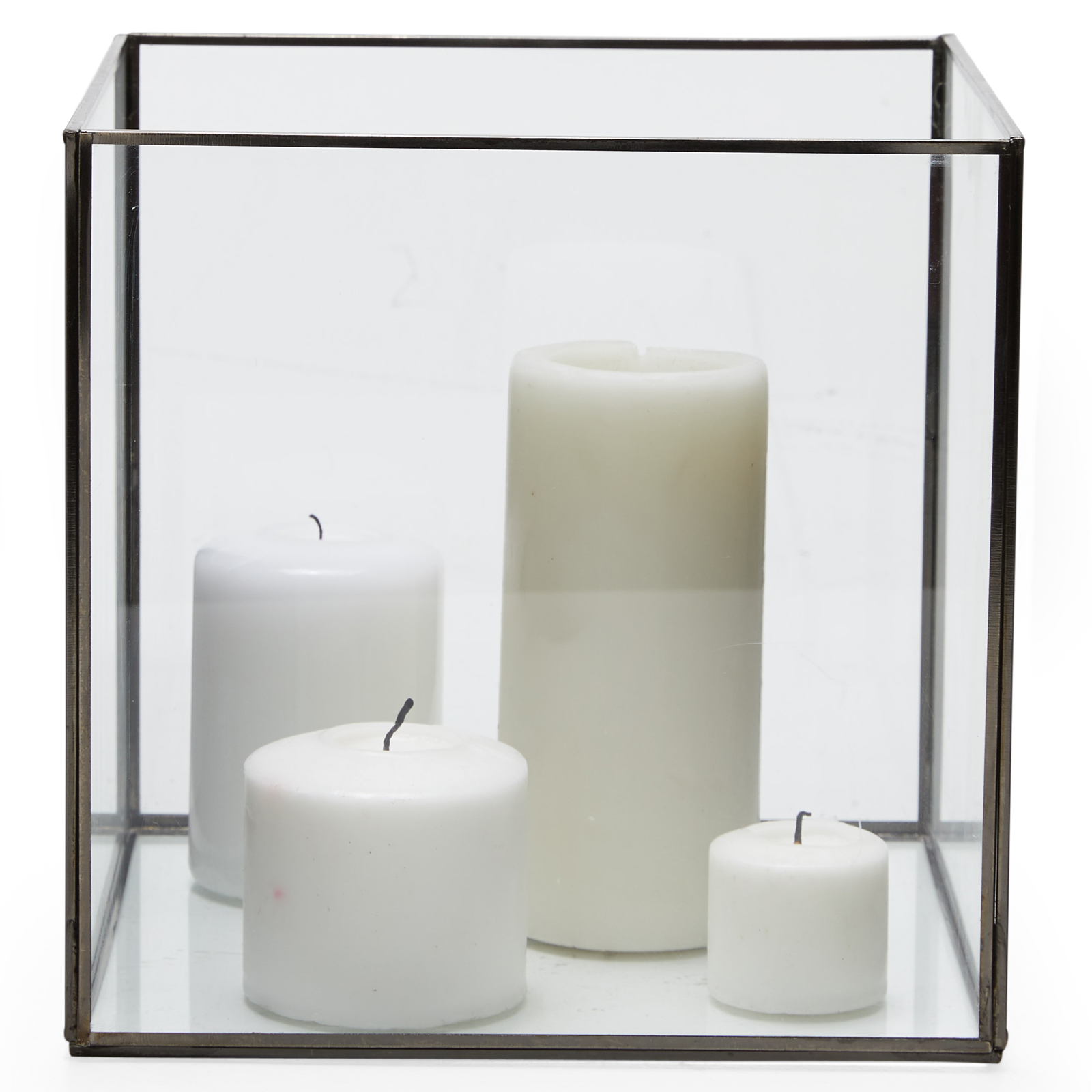 Modrn Matte Black Glass Candle Holder Walmart Com Walmart Com