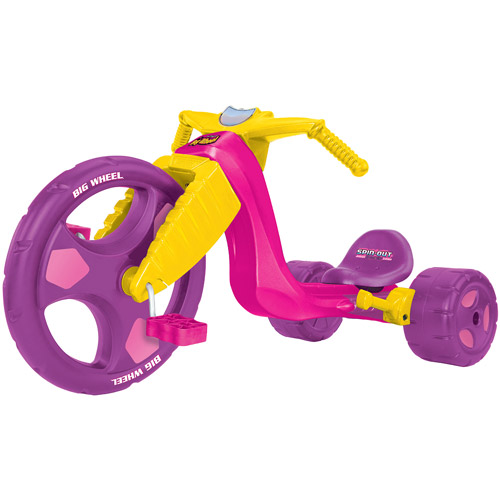 """Kids Only 16"""" Spin Out Big Wheel Racer with Spin Out Lever, Girl"""
