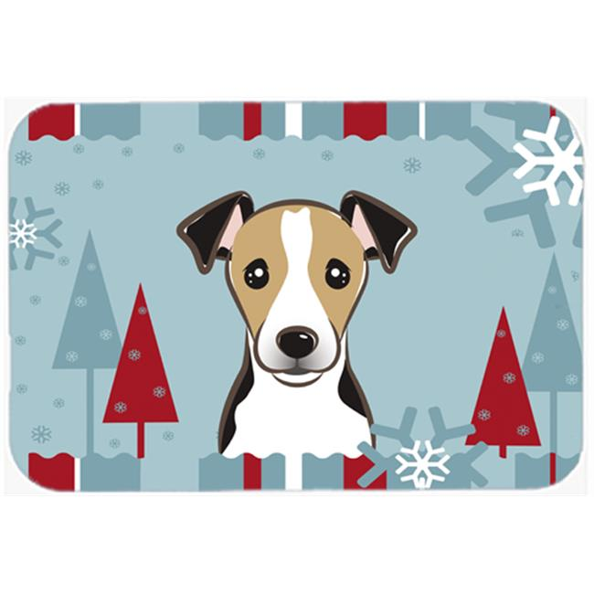 Carolines Treasures BB1757LCB Winter Holiday Jack Russell Terrier Glass Cutting Board, Large - image 1 de 1