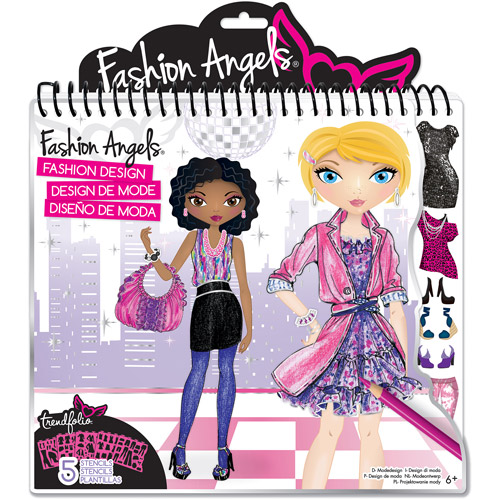 Fashion Angels Fashion Design Coloring Portfolio