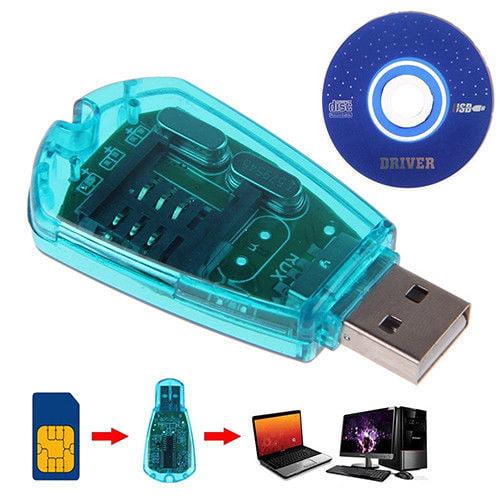 USB Cellphone Standard SIM Card Reader Copy Cloner Writer SMS Backup GSM/CDMA US
