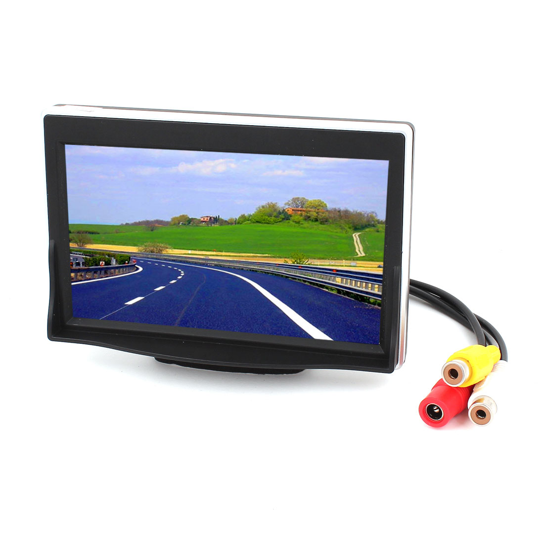 Unique Bargains LCD Car Rear View Camera Monitor Rotating Screen 2 AV Inputs 5 inch TFT Color