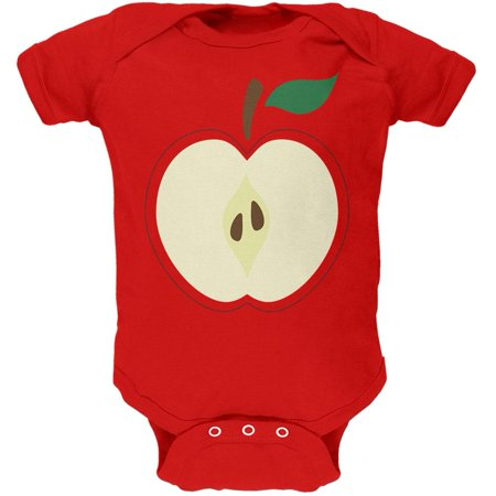 Halloween Apple Slice Costume Soft Baby One Piece](Baby Halloween Accessories Uk)