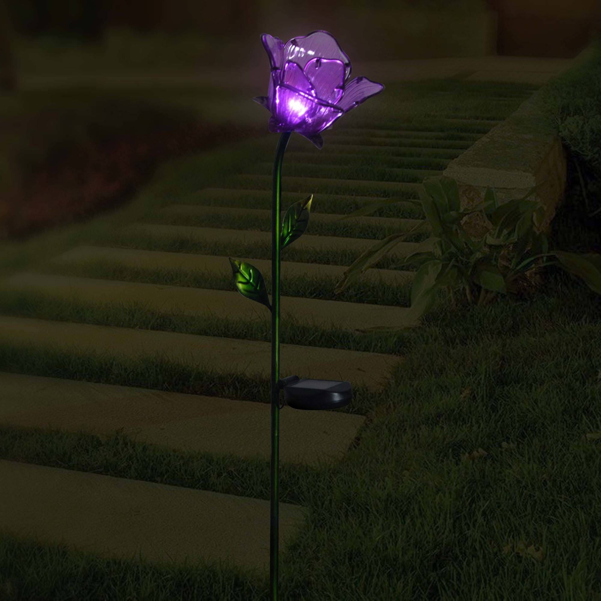 Better Homes And Gardens Flower Stake Purple Walmart Com