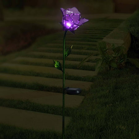 Better homes and gardens flower stake purple - Better homes and gardens solar lights ...