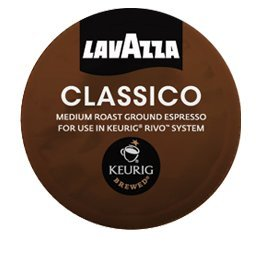 Lavazza Classico, Espresso, 18- 0.26 oz (Packs of 4) for Keurig Rivo Systems