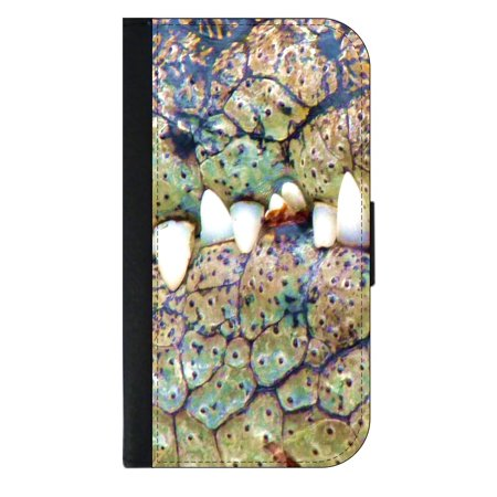 Alligator Card Case - Alligator Mouth Wallet Style Cell Phone Case with 2 Card Slots and a Flip Cover Compatible with the Apple iPhone 4 and 4s Universal
