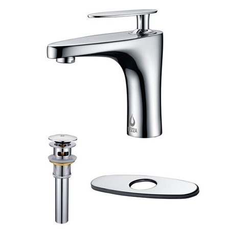 Nezza Cobra Bathroom Faucet, Pop-up Drain Overflow with Deck Plate