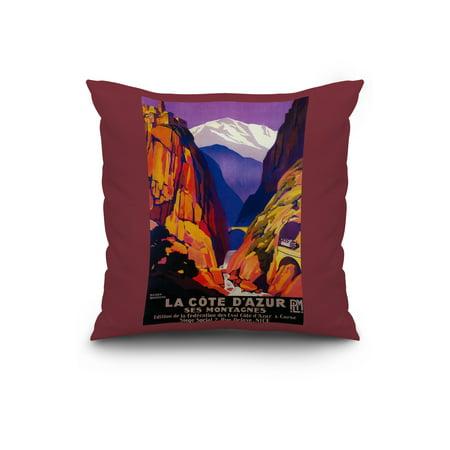 Lion Lantern Press Photography 16x16 Spun Polyester Pillow White Borde
