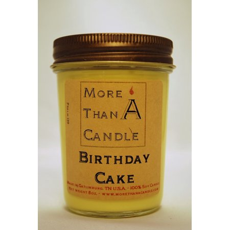 More Than A Candle BDC8J 8 oz Jelly Jar Soy Candle, Birthday