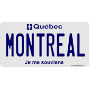 quebec montreal photo license plate   free personalization on this plate