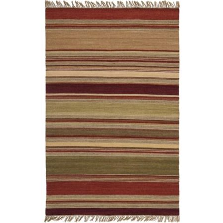 """Safavieh Striped Kilim 2'3"""" X 6' Hand Woven Wool Pile Rug in Red - image 1 de 1"""