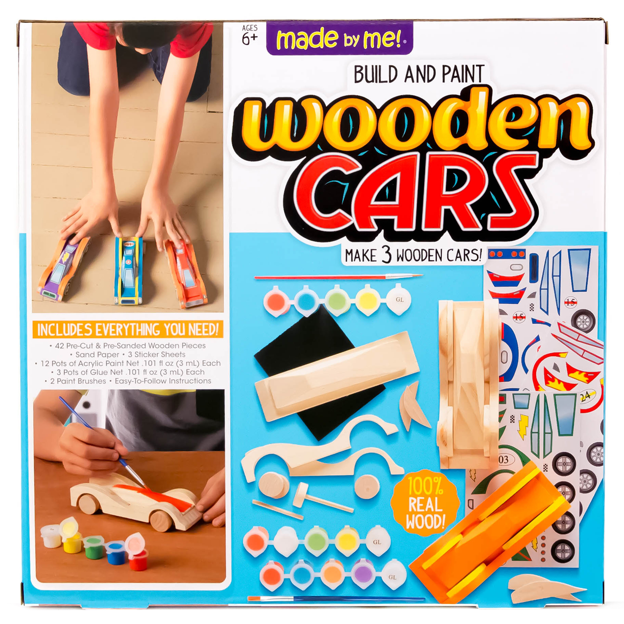 Made By Me Wooden Cars 1 Each