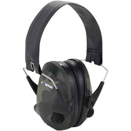 Boomstick Gun Accessories Camo Electronic Ear Muff with 4 AAA thumbnail