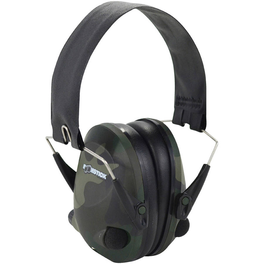 Boomstick Gun Accessories Camo Electronic Ear Muff with 4 AAA