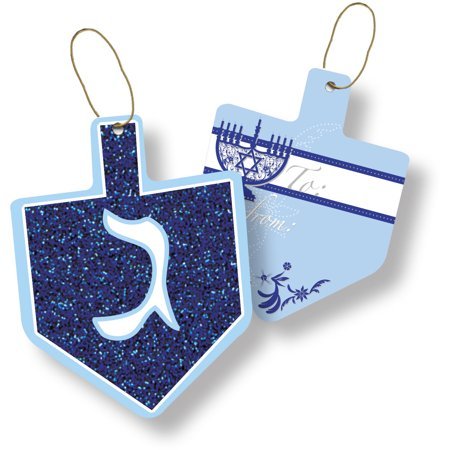 Jillson & Roberts Gift Tags with Tie String, Happy Hanukkah (100 Pcs) Jillson & Roberts Gift Tags with Tie String, Happy Hanukkah (100 Pcs)