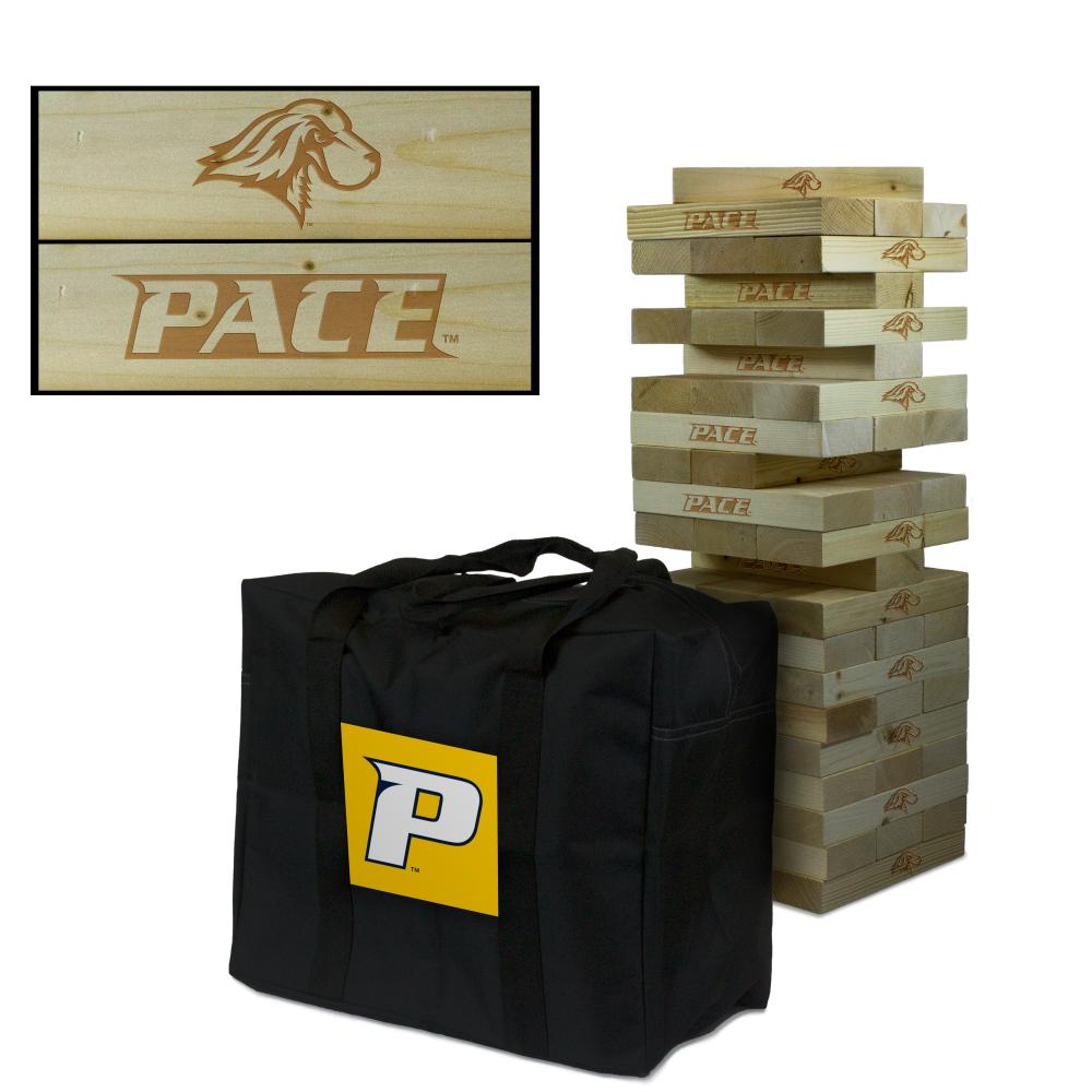 Pace University Setters Giant Wooden Tumble Tower Game