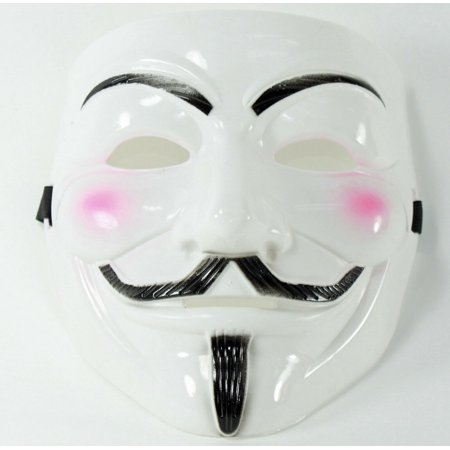 Halloween Makeup Ideas For Guys With Beards (White V for Vendetta Guy Fawkes Anonymous Costume Halloween Cosplay Protest Mask)