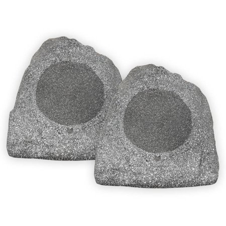 Theater Solutions 2R8G 8-Inch Outdoor Rock Speakers (Granite