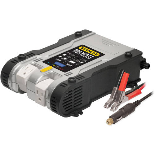 Stanley 500W Power Inverter with Pivoting Plugs