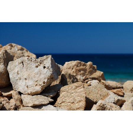 Laminated Poster Blue Coast Nature Group Rock Ocean Pattern Sea Poster Print 24 X 36