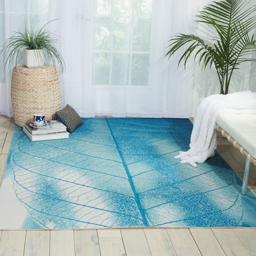 Nourison Coastal Aqua Indoor/Outdoor Area Rug