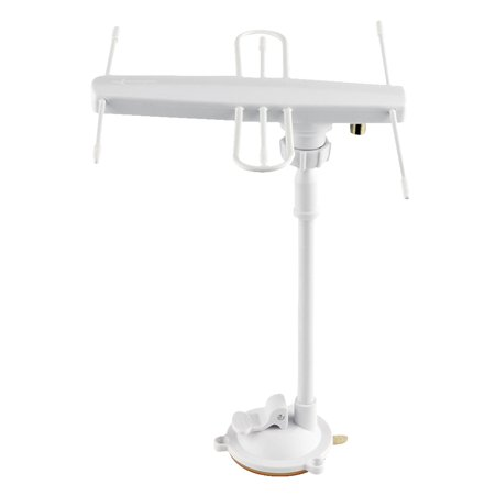 TV-023 Universal Indoor Outdoor HDTV Digital TV Antenna 30-50 Miles Range Active Directional Antenna 28dBi High Gain Strong Signal Fixed by Bracket and Nut ()