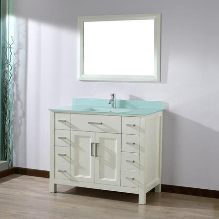 Excellent Bauhaus Bath Celize 42 In Single Bathroom Vanity Set With Mirror Download Free Architecture Designs Ferenbritishbridgeorg