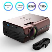Excelvan 1080P WiFi LCD Projector 4000 Lumen Bluetooth Home Theater 55000 hrs Synchronize Smartphone Screen