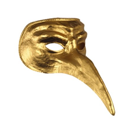 New Halloween Costume Unisex Long Nose Gold Venetian Carnival Mask