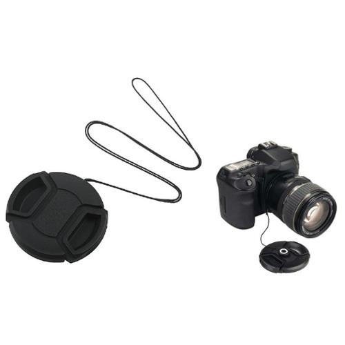 Insten 52mm Cam Snap-On Front Cover Lens Cap+keeper for Nikon