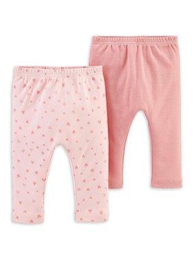 Little Planet Organic Baby Girl Pants, 2-Pack
