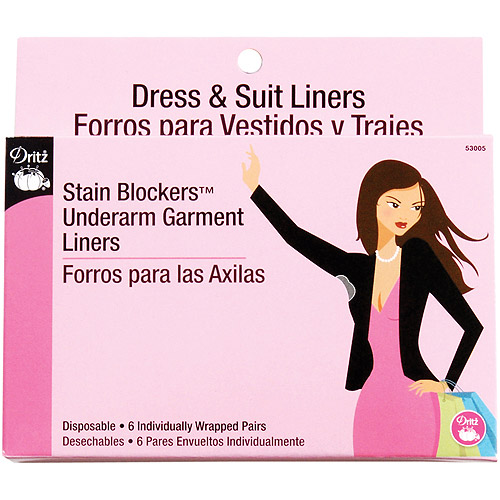 Stain Blockers Underarm Garment Liners, 6/Pair