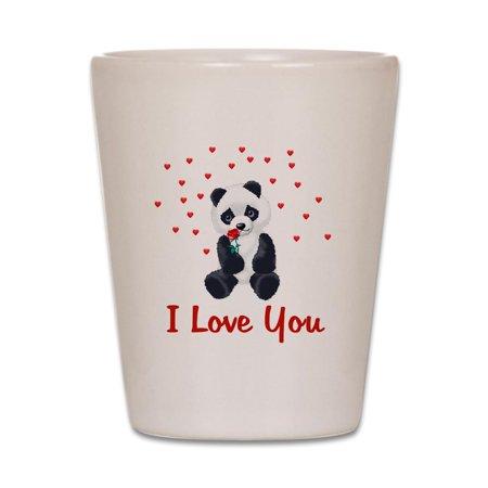 CafePress - Panda Bear Love - White Shot Glass, Unique and Funny Shot Glass](Funny Shot Glasses)
