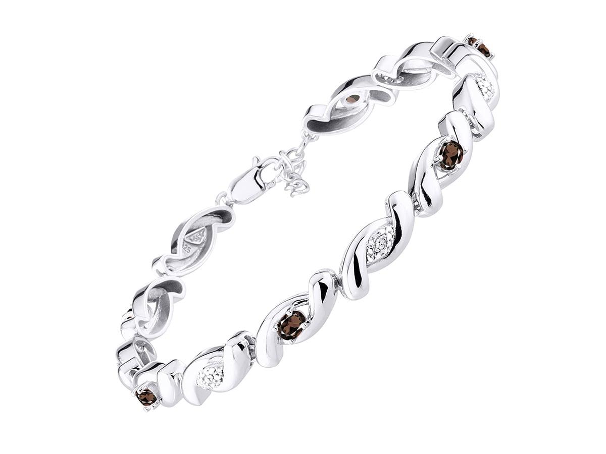 Details about  /Natural Tanzanite /& Garnet 14K Rose Gold Plating 925 Silver Tennis Bracelet