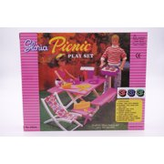 """Gloria Picnic Play Set For 11.5"""" Fashion doll and dollhouse furniture play set."""