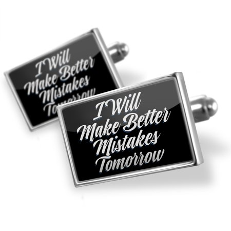 Cufflinks Classic design I Will Make Better Mistakes Tomorrow - NEONBLOND